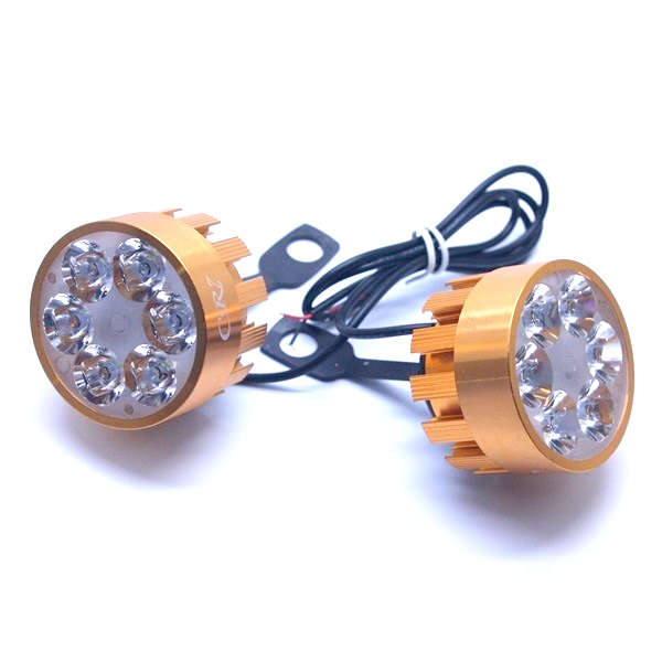 LAMPU BREKET SPION GOLD 6 LED (ISI 2PCS)