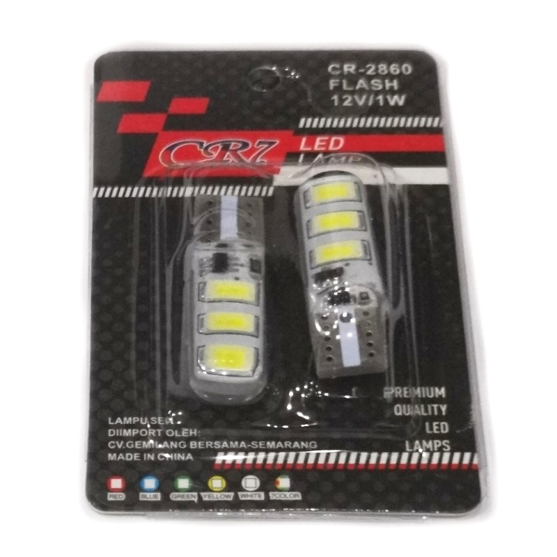LAMPU SEN COLOK 6 LED FLASH WHITE (ISI 2PCS)