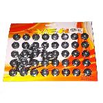 BAUT KEMBANG RING SISIK BLACK (ISI 40PCS)